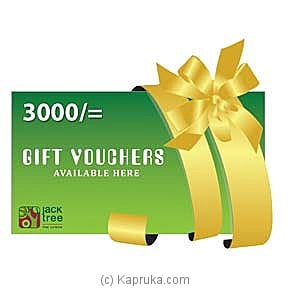 Jack Tree Gift Voucher Rs. 3000/- at Kapruka Online for specialGifts