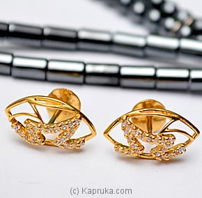 22kt Gold Ear Stud With Zercone (E701/1) at Kapruka Online for specialGifts