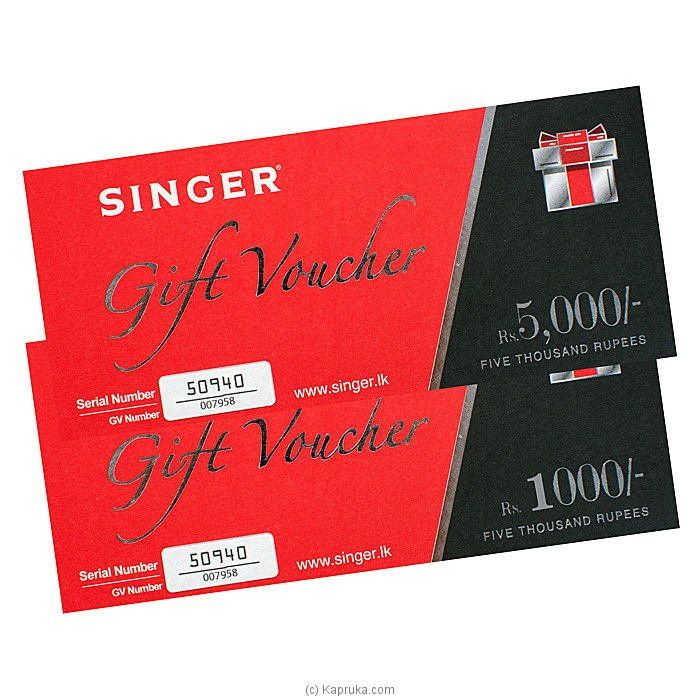 Singer Homes Gift Voucher Rs. 10000 at Kapruka Online for specialGifts