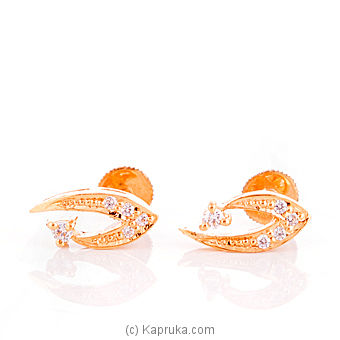 22kt Gold Ear Stud With Zercones at Kapruka Online for specialGifts