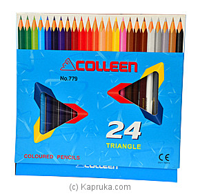 Colleen Triangle Coloured Pencil - 24 at Kapruka Online for specialGifts