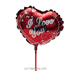 `I Love You ` Reddish Foil Baloon at Kapruka Online for specialGifts