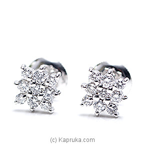 18k White Gold Earring Set (ALE 226) at Kapruka Online for specialGifts