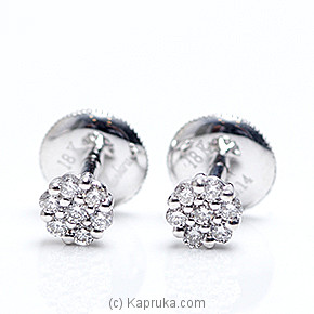 18k White Gold Earring Set (ALE 271 1.3 B ) at Kapruka Online for specialGifts