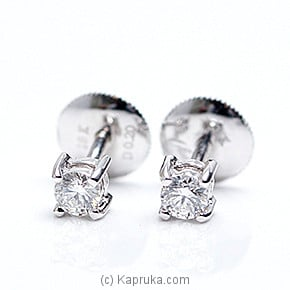 18k White Gold Earring Set (ALE 640 .20) at Kapruka Online for specialGifts