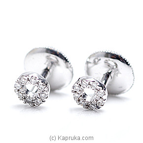 18k White Gold Earring Set (FE 058) at Kapruka Online for specialGifts