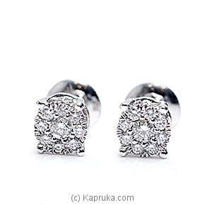 18k White Gold Earring Set (REH 01) at Kapruka Online for specialGifts
