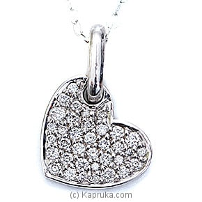 18k White Gold Pendent Set (AJP 159) at Kapruka Online for specialGifts