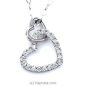 18k White Gold Pendent Set (AJP 160) at Kapruka Online for specialGifts