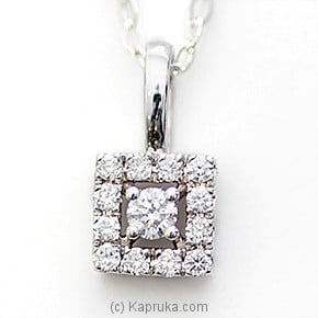 18k White Gold Pendent Set (PR 22P) at Kapruka Online for specialGifts