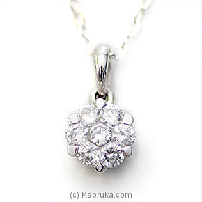 18k White Gold Pendent (S1011) at Kapruka Online for specialGifts