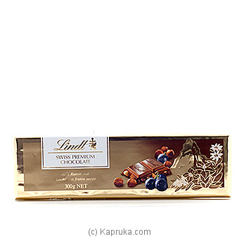 Lind Swiss Premium Chocolate Milk Raisin Nut - 300g at Kapruka Online for specialGifts