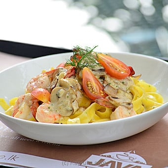 Fettuccine Alfredo With Shrimps By Java at Kapruka Online forspecialGifts
