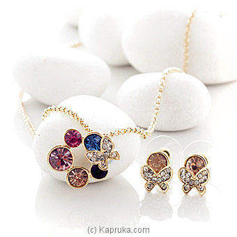 Colorful Stones With Butterfly Jewelry Set ( AC1560) at Kapruka Online for specialGifts