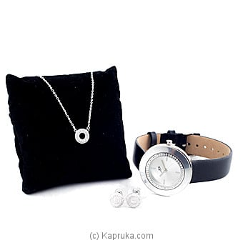 Crystal Stones Fashion Jewelry Set With Watch  (6) at Kapruka Online for specialGifts