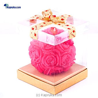 Rose Flower Ball Shape Scented Candle at Kapruka Online for specialGifts