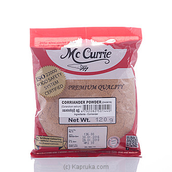 Mc Curry Coriander Powder 120g at Kapruka Online for specialGifts