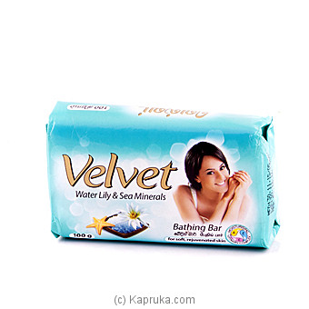 Velvet Water Lily & Sea Minerals 100g at Kapruka Online for specialGifts