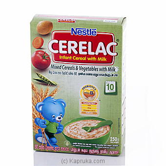 Nestle Cerelac Mixed Cereals and Vegetables with Milk 250g at Kapruka Online for specialGifts