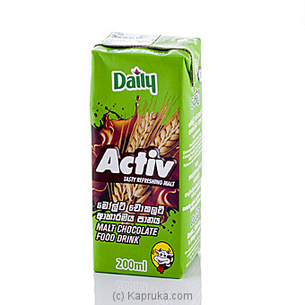 Daily Activ Malt & Chocolate 200ml at Kapruka Online for specialGifts