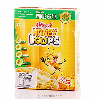 Kelloggs Corn Flakes Honey Loops 125g at Kapruka Online for specialGifts