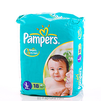Pampers Large 9-14Kg 18 Diapers at Kapruka Online for specialGifts