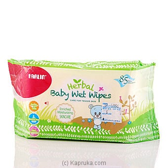 Farlin Herbal Baby Wet Wipes - 85 Pcs at Kapruka Online for specialGifts
