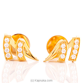 22K Gold Ear Stud Set With 14 C/z at Kapruka Online for specialGifts