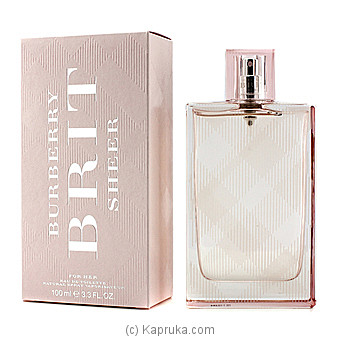 Burberry Brit Sheer Eau De Toilette Spray-100ml By BURBERRY at Kapruka Online forspecialGifts