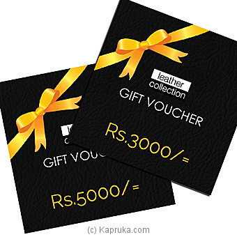 Leather Collection Gift Voucher at Kapruka Online for specialGifts
