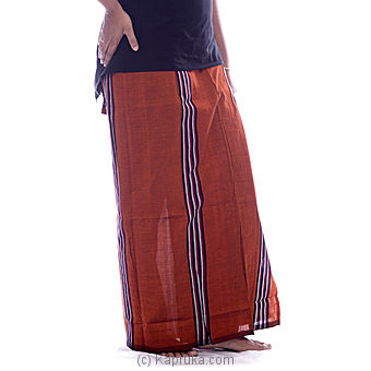 Black With Copper Brown Handloom Lungi at Kapruka Online for specialGifts