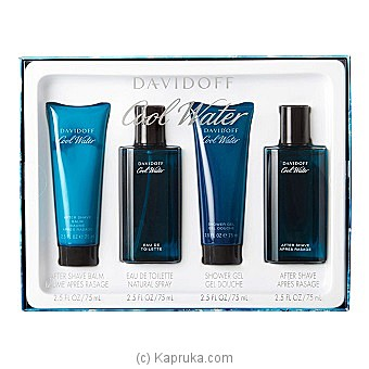 Davidoff Cool Water For Him - 4 Piece Gift Set By DAVIDOFF at Kapruka Online forspecialGifts