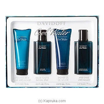 Davidoff Cool Water For Him - 4 Piece Gift Set at Kapruka Online for specialGifts