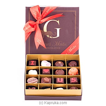 I LOVE US ` 16 Piece Chocolate Box -Red(GMC) By GMC at Kapruka Online forspecialGifts