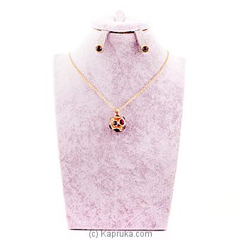 Colorful Crystal Stones Necklace With Earing at Kapruka Online for specialGifts