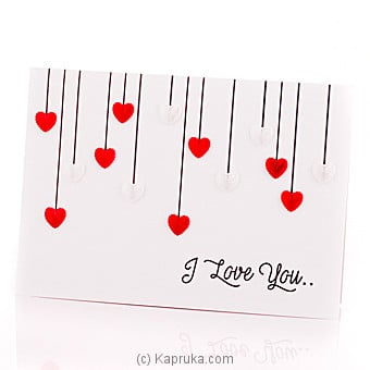 I Love You Greeting Card at Kapruka Online for specialGifts