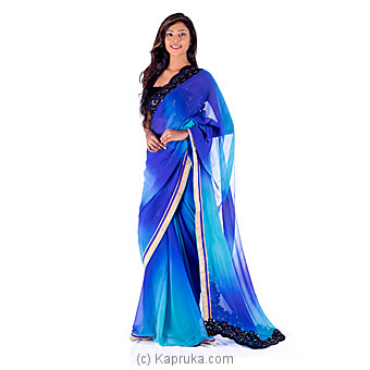 Elegant Blue Saree at Kapruka Online