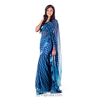 Blue Designer Saree at Kapruka Online