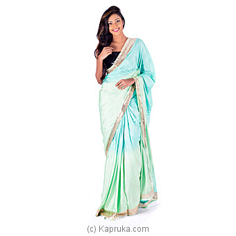Ocean Green Elegant Saree at Kapruka Online for specialGifts