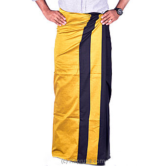 Homins Golden Yellow Handloom Sarong at Kapruka Online for specialGifts