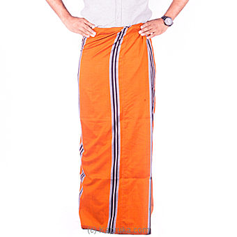 Orange Handloom Sarong at Kapruka Online for specialGifts