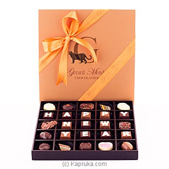 Happy New Year 25 Piece Chocolate Box(GMC) at Kapruka Online for specialGifts