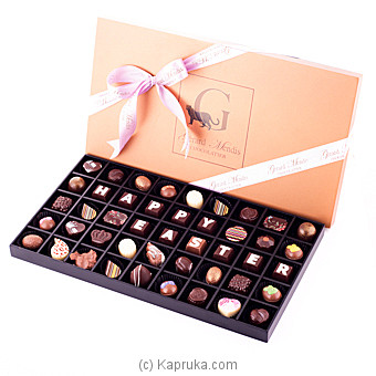 Classic  Wooden 45 Piece Easter Chocolate Box(GMC) at Kapruka Online for specialGifts