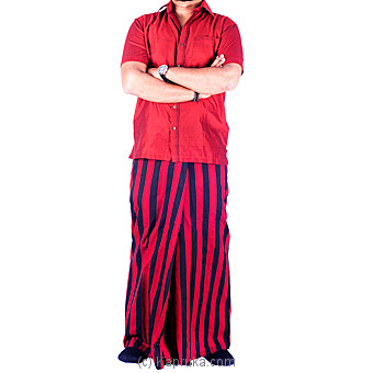 Red Handloom Sarong With Shirt at Kapruka Online for specialGifts
