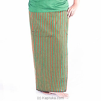 Green And Musterd Green Lungi With Blouse Meterial at Kapruka Online for specialGifts
