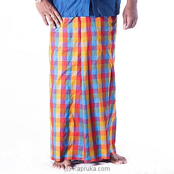 100% Cotton Check Hanloom Sarong at Kapruka Online for specialGifts