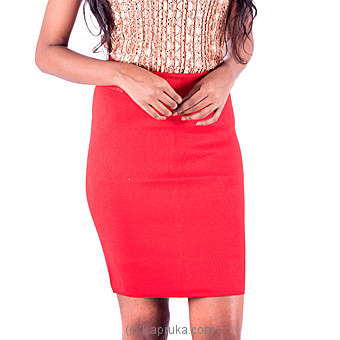 Red Mini Slim Skirt at Kapruka Online