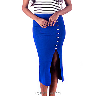 Blue Stretch Pencil Skirt at Kapruka Online for specialGifts