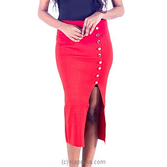 Red Stretch Pencil Skirt at Kapruka Online for specialGifts