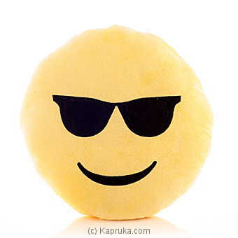 Emoji Cushion - Smiling Face With Sunglasses at Kapruka Online for specialGifts